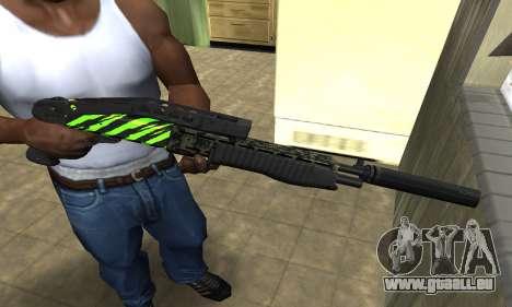 SPAS-12 Green Lines für GTA San Andreas
