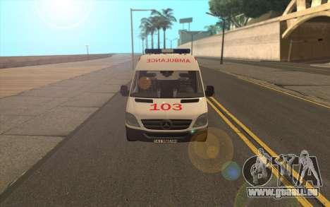 Mercedes-Benz Sprinter Krankenwagen Ukraine für GTA San Andreas linke Ansicht
