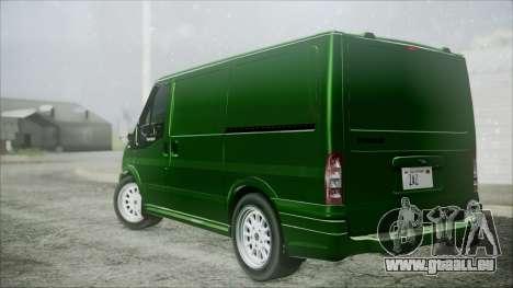 Ford Transit SSV 2011 pour GTA San Andreas laissé vue