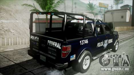 Ford Pickup Policia Federal für GTA San Andreas Rückansicht
