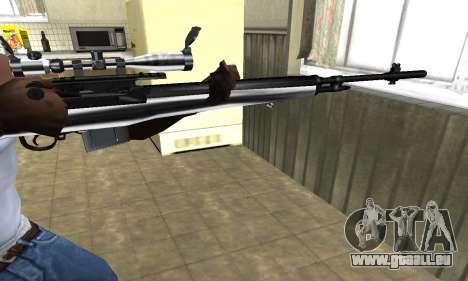 Silver Sniper Rifle für GTA San Andreas zweiten Screenshot