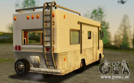 Winnebago Brave 1979 pour GTA San Andreas laissé vue