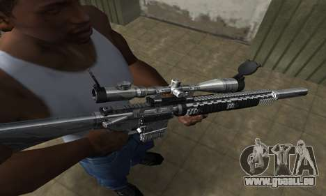 Full Silver Sniper Rifle für GTA San Andreas