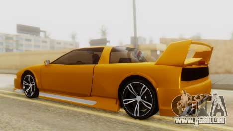 Infernus BMW Revolution with Spoiler pour GTA San Andreas sur la vue arrière gauche