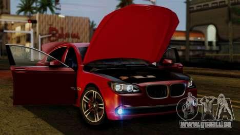 BMW 7 Series F02 2013 pour GTA San Andreas vue de dessus