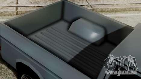 Bobcat New Edition pour GTA San Andreas sur la vue arrière gauche