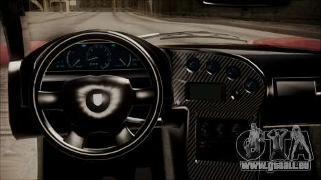 GTA 5 Grotti Turismo R IVF pour GTA San Andreas vue arrière