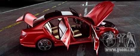 Mercedes-Benz C63 AMG 2013 für GTA San Andreas Rückansicht