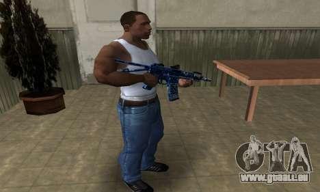 Blue Life M4 für GTA San Andreas dritten Screenshot
