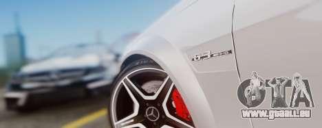 Mercedes-Benz C63 AMG 2013 für GTA San Andreas Innenansicht