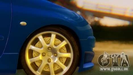 Peugeot 206 Full Tuning pour GTA San Andreas sur la vue arrière gauche