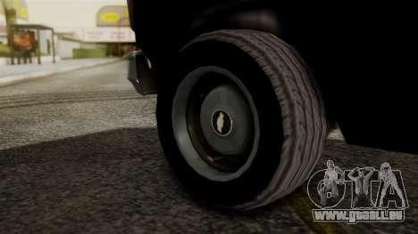 Chevrolet Chevy Van G20 Paraguay Police pour GTA San Andreas sur la vue arrière gauche