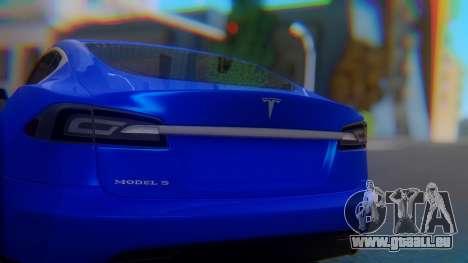 Tesla Model S pour GTA San Andreas vue intérieure