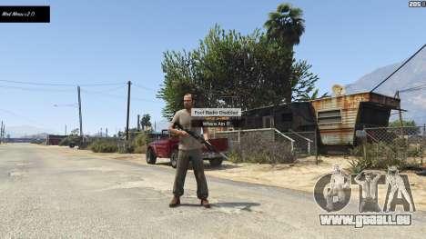 GTA 5 Mod Menu (No More Hotkeys) 2.0 deuxième capture d'écran