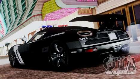 NFS Rivals Koenigsegg Agera R v2.0 für GTA San Andreas zurück linke Ansicht
