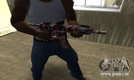M4 Rouge Camo pour GTA San Andreas deuxième écran