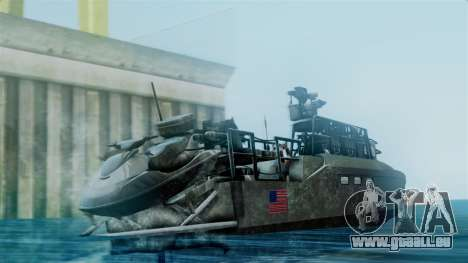 CB90-Class Fast Assault Craft BF4 für GTA San Andreas linke Ansicht