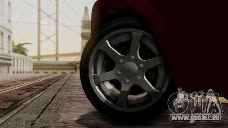 GTA 5 Enus Super Diamond IVF pour GTA San Andreas sur la vue arrière gauche
