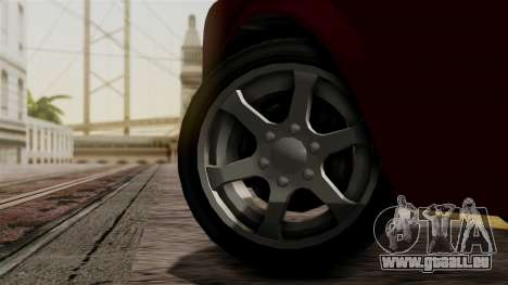 GTA 5 Enus Super Diamond IVF für GTA San Andreas zurück linke Ansicht