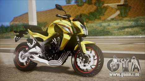Honda CB650F Amarela pour GTA San Andreas