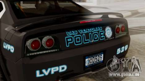 Hunter Citizen from Burnout Paradise Police LV für GTA San Andreas Rückansicht