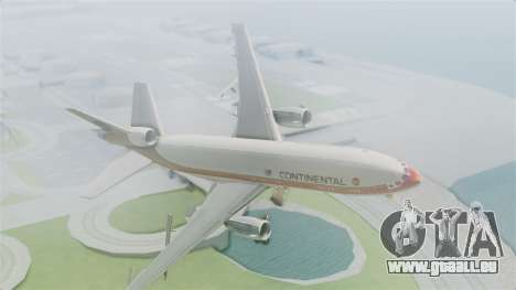 DC-10-30 Continental Airlines 1985 pour GTA San Andreas