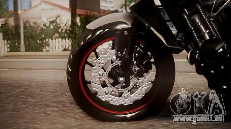 Honda CB650F Pretona für GTA San Andreas zurück linke Ansicht