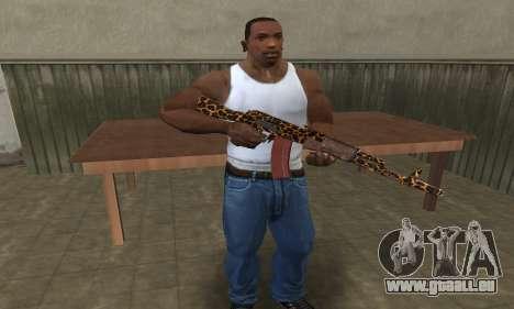 Leopard AK-47 pour GTA San Andreas troisième écran