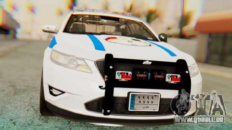 Ford Taurus Iraq Police v2 für GTA San Andreas rechten Ansicht