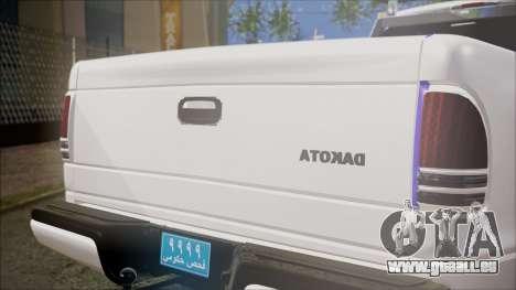 Dodge Dakota Iraqi Police für GTA San Andreas Rückansicht