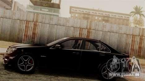 Mercedes-Benz C63 AMG 2015 Edition One für GTA San Andreas zurück linke Ansicht