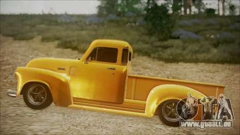 Chevrolet 3100 Truck 1951 für GTA San Andreas zurück linke Ansicht