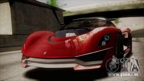 GTA 5 Grotti Turismo R IVF pour GTA San Andreas vue de droite