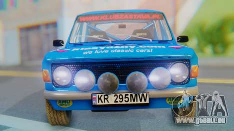 Zastava 1100P Rally für GTA San Andreas Rückansicht