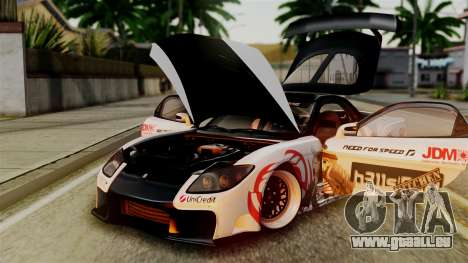 Mazda RX-7 Veilside Mugi Itasha für GTA San Andreas Innenansicht