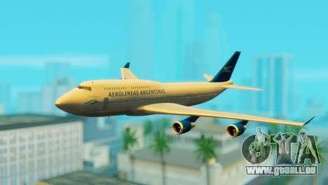 Boeing 747 Argentina Airlines für GTA San Andreas