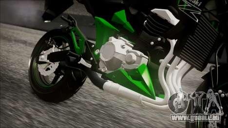 Kawasaki Z800 Monster Energy pour GTA San Andreas vue de droite