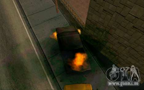Burning car mod from GTA 4 für GTA San Andreas zweiten Screenshot