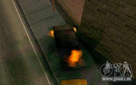Burning car mod from GTA 4 für GTA San Andreas zweiten Screenshot