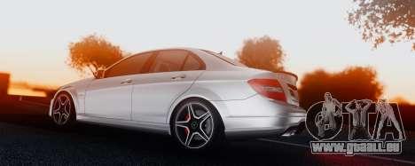 Mercedes-Benz C63 AMG 2013 für GTA San Andreas Seitenansicht