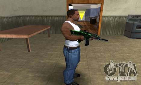 Full Green M4 für GTA San Andreas dritten Screenshot