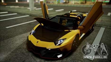 Lamborghini Veneno LP700-4 AVSM Roadster Version für GTA San Andreas Innenansicht