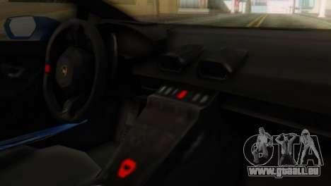 Lamborghini Huracan 2015 pour GTA San Andreas vue de droite