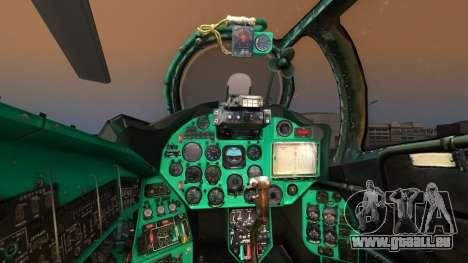 Mil Mi-24W Polish Land Forces pour GTA San Andreas vue arrière