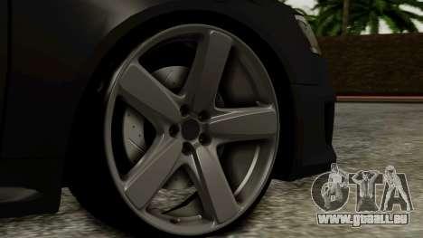 Audi RS6 Civil Drag Version für GTA San Andreas zurück linke Ansicht