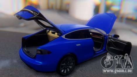 Tesla Model S pour GTA San Andreas vue de dessus
