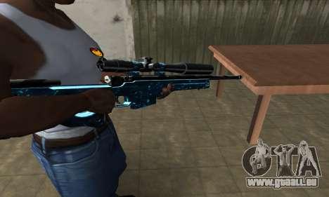Sniper Blue Snow für GTA San Andreas