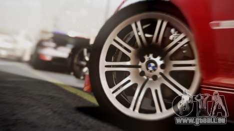 BMW M3 GTR Street Edition pour GTA San Andreas vue arrière