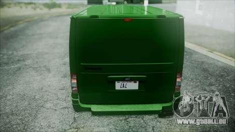 Ford Transit SSV 2011 pour GTA San Andreas vue intérieure