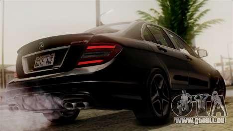 Mercedes-Benz C63 AMG 2015 Edition One pour GTA San Andreas laissé vue
